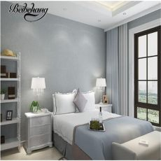 plain wallpaper for bedroom walls beibehang modern simple and warm bedroom plain non woven wallpaper fashion tv background wall