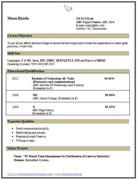 beautiful resume template sle template tech ece electronics