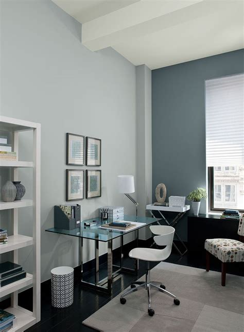 colour room gray home offices blue home offices