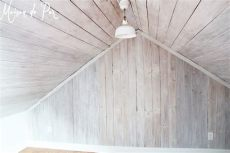 whitewash tongue and groove ceiling remodelaholic how to whitewash a plank wall and ceiling