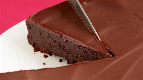 flourless chocolate cake chocolate glaze recipe finecooking