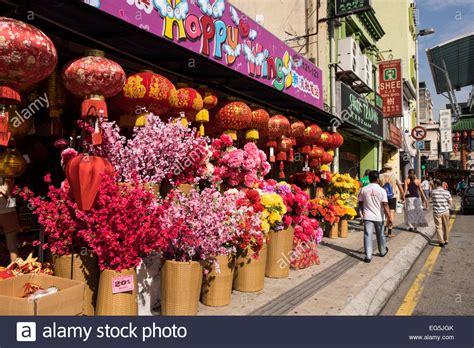 chinese year decorations sale chinatown kuala lumpur stock