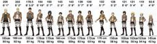 attack on titan characters height and weight torikabori snk characters height weight chart attack on titan characters arranged by weight