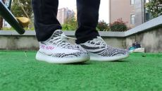 yeezy boost 350 v2 zebra on foot adidas yeezy boost 350 v2 zebra on hd review from