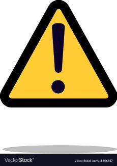 attention sign vector hazard warning attention sign with exclamation vector image