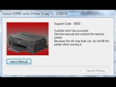 how to fix canon mp258 error code 5b00 cara mengatasi masalah canon g1000 g2000 error 5b00