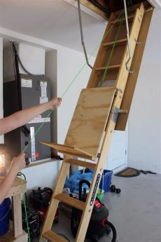 garage storage lift diy improve your attic storage with this diy lift system your projects obn