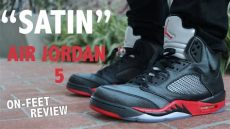 quot satin quot air 5 bred on review - Air Jordan 5 Satin Bred On Feet