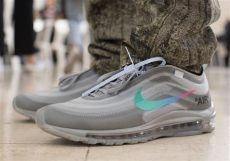 white nike air max 97 grey black sneakernews - Air Max 97 X Off White Grey
