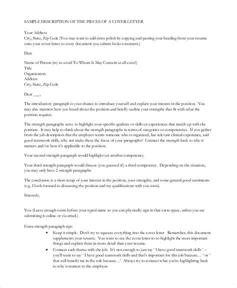 sle cover letter resume 8 exles word