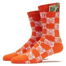 40s and shorties socks 40s and shorties checkerboard socks orange