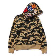 bape 1st camo shark full zip hoodie 1st camo shark zip hoodie yellow bape