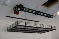 storage ideas unique liftunique lift in 2019 garage ceiling storage overhead garage storage - Diy Garage Storage Lift