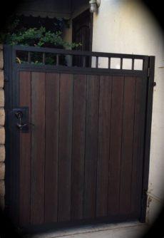 metal framed wooden gates sheffield steel framed wood sliding gates
