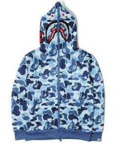 bape hoodie camo blue buy discount cheap unauthorized replicas fakes bape blue camo hoodie for