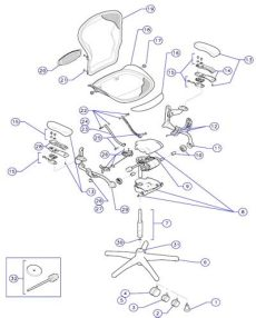 herman miller aeron chair parts diagram aeron chair parts top for chair review