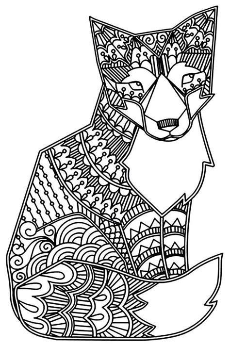 fox coloring pages animal coloring pages fox coloring