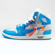 nike x white air 1 unc blue crepslocker - Nike Air Jordan 1 Off White Blue