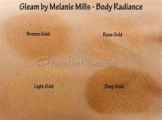 gleam melanie mills kisses gleam by melanie mills radiance all 4 shades pics swatches review