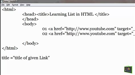 link properties attributes html links hindi part 2