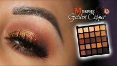 morphe 25a makeup look gold copper look feat morphe 25a palette