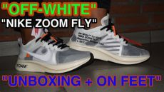 nike x off white zoom fly on feet quot white quot x nike zoom fly w unboxing and on