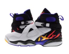 every air jordan 8 youth gs air 8 retro quot three peat quot white infrared 23 black 305368 142 ebay
