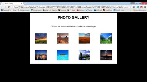 photo gallery html css youtube