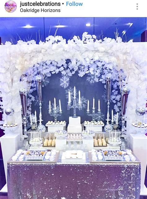 winter wonderland dessert table decor wonderland wedding decorations