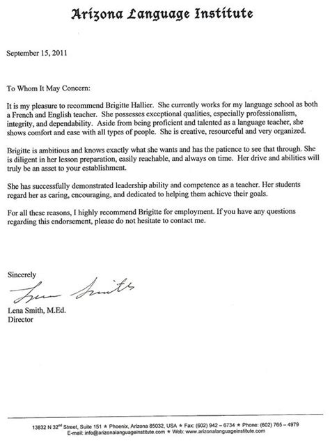 letter recommendation sle masters degree letter recommendation cover