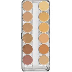 kryolan dermacolor camouflage creme palette 12 colors kryolan dermacolor camouflage creme palette 12 colors a ready cosmetics