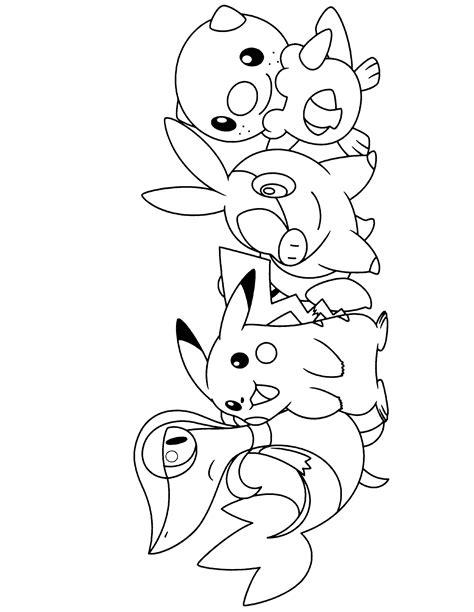 coloring pokemon black white thousand