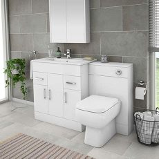 turin high gloss white vanity unit bathroom suite turin 1300mm gloss white vanity unit bathroom suite depth 400 200mm at plumbing uk