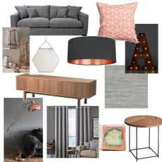 blush grey copper wallpaper grey blush copper living room new home living rooms gray and room