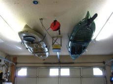 how to hang kayak from garage ceiling kayak storage maybe one day i ll give in and hang one in my bedroom who needs ceiling space