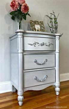 silver metallic paint for wood furniture how to paint furniture with the best silver metallic paint
