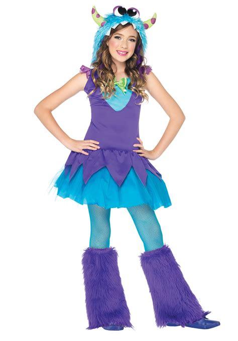 girls cross eyed carlie monster costume
