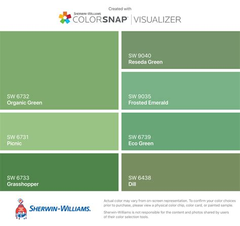 colors colorsnap visualizer iphone sherwin williams organic green