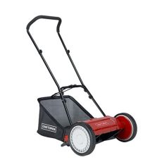 reel mower recommendations craftsman lmrm1602 16 quot reel push lawn mower with bag shop your way shopping earn