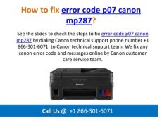 fix canon error p07 5b02 how to reset how to fix error code p07 canon mp287 call us 1 866 301 6071