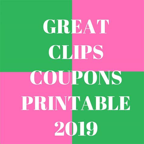 100 great clips coupons printable nov 2019