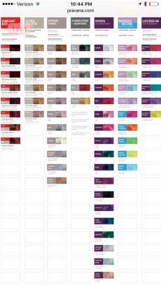 pravana vivids color chart pravana hair color pravana color chart hair color chart - Pravana Chromasilk Vivids Color Chart