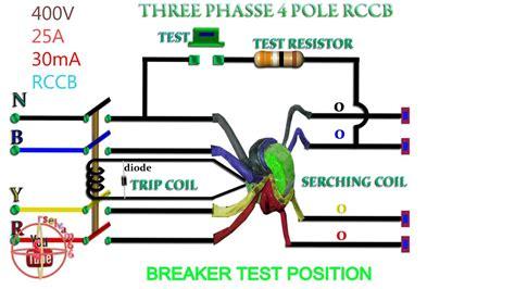 rccb working function phase rccb 4 pole rccb