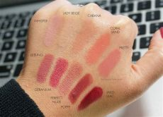 aerin balm lipsticks look the look book - Aerin Rose Balm Lipstick Swatches