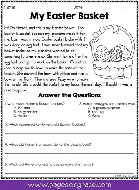reading comprehension passages questions april distance learning images