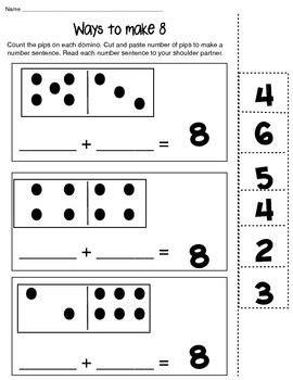 ways 6 8 10 math composing number worksheet