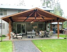 cost to build a covered patio attached to a house wood patio covered attached how to build a house ifso bar deck recognizealeader