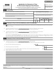 irs form 5558 download printable application extension time