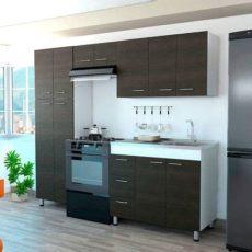 precios de cocinas integrales en homecenter cocina integral ferreti 2 20 metros 11 puertas 3 cajones wengue incluye mes 243 n derecho en acero