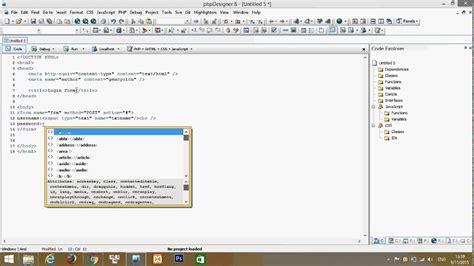 create login form html phpdesigner 8 youtube